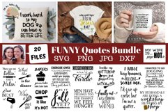 Funny quotes Bundle, Humorous designs, funny svg bundle dxf Product Image 1