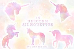 Unicorn Silhouettes SVG Cut Files Pack Product Image 1