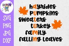 Autumn Subway Art SVG - Fall Words SVG - Autumn Words SVG Product Image 1