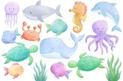 Under the Sea Watercolor Clipart Illustrations Product Image 2