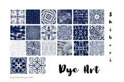 20 Shibori Tie Dye Art Digital Paper Set Product Image 3