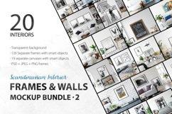 Scandinavian Interior Frames & Walls Mockup Bundle - 2 Product Image 1