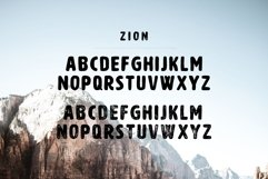 Zion | An Eroded Grunge Font Product Image 2