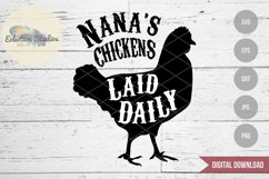 Nana's Chickens Laid Daily, Word Art for Sign makers Product Image 1