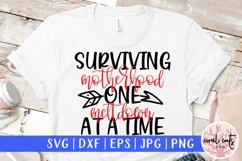 Surviving motherhood one meltdown at a time - Mother SVG EPS Product Image 1