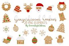 Christmas Gingerbead Cookies Clipart, Christmas Clip Art, Christmas Graphics Product Image 1