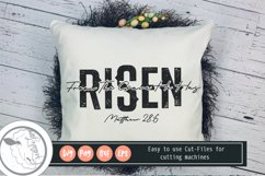 HE IS Risen SVG|Faith Svg|Bible Verse Svg Product Image 1