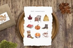 Fall Clipart Watercolor Autumn Cozy Painting Clip art Product Image 4