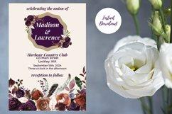 Plum and Beige Autumn Wedding Invitation Product Image 5