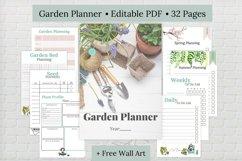 Editable Garden Planner, Printable Garden Planner Product Image 1