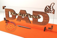 Dad sign vector files, father's day decor. Glowforge ready. Product Image 1