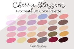 Cherry Blossom Procreate Color Palette / Spring Flower Product Image 1