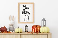 Halloween SVG Halloween quotes SVG Too cute to spook Shirt Product Image 6