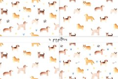 Watercolor Cute Dogs. Patterns and Cliparts Product Image 3