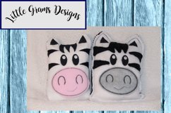 Zebra ITH Rice Bag or Cover Embroidery Design Product Image 2