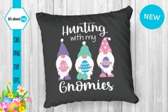Hunting With My Gnomies, Funny Easter Gnomies Svg Product Image 4