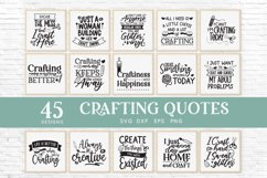 45 Crafting Quotes svg Bundle dxf eps png - craft room sign Product Image 2