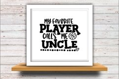 Basketball SVG DXF JPEG Silhouette Cameo Cricut calls uncle Product Image 2