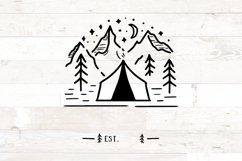 Family Name Sign  Camping Tent Welcome Family Name Product Image 2