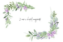 Greenery Lavender Wedding Watercolor Clip Art Illustrations Product Image 4