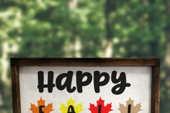 Happy Fall with Leaves SVG - Autumn SVG - Fall SVG Product Image 2