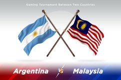 Argentina vs Malaysia Two Flags Product Image 1