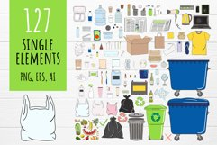 Vector collection of waste sorting clip arts, compositions Product Image 2