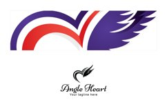 Angel Heart - Creative Heart and Wings Stock Logo Product Image 3