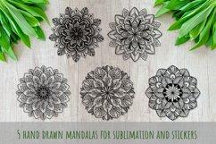 Mandalas set SVG, Boho stile cut file, Print and Cut Stikers Product Image 3