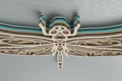 Insect laser cut file - Dragonfly Mandala Product Image 6