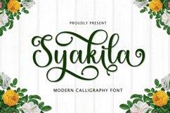 Syakila Script Product Image 1