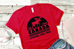 Canada Strong and Free SVG Product Image 1