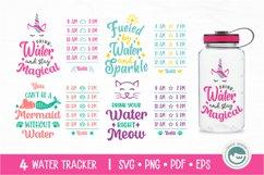 Unicorn / Mermaid / Fairy / Cat / Water Tracker SVG Cut File Product Image 1