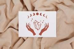 Celestial svg bundle, Witch hands svg, Moon phase svg, Boho Product Image 6