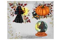 Halloween Clip art Witch Clip Art Pumpkin Clipart Product Image 3