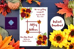 Sunflowers and Red Roses Wedding Invitation Product Image 6