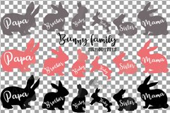 Bunny family silhouettes, pink and blush rabbit Easter decor Product Image 2