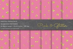 Pink Glitter Digital Papers Product Image 1