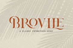 Brovile. A Classy Serif Product Image 1