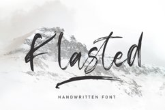 Klasted Brush Font Product Image 1