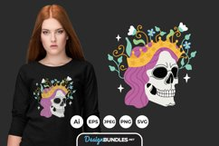 Skull queen for T-Shirt Design Product Image 1