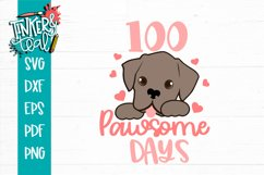 100 Pawsome Days Puppy School SVG Product Image 2