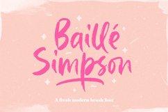 Baille Simpson - Modern Brush Script Product Image 1