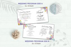 Wedding Invitation Set #1 Watercolor Floral Flower Style Product Image 5