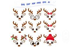 Christmas SVG - Cute Reindeers SVG Chris Bundle Product Image 2