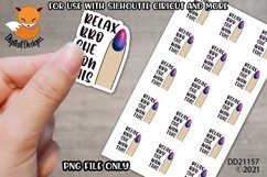 Small Business Sticker Relax Bro She Won This PNG Product Image 1