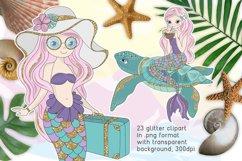 MERMAID VACATION Glitter Vector Illustration Set Product Image 2