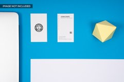 2 Business Card Mockup in Blue Product Image 1