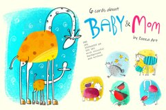 6 illustrations about Baby and Mom Product Image 1