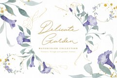 Watercolor Flowers Wreaths Gold Frames Wedding Wildflowers Product Image 1
